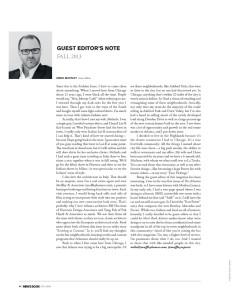 Men's Book Atlanta September 2013 Guest Editor's Note