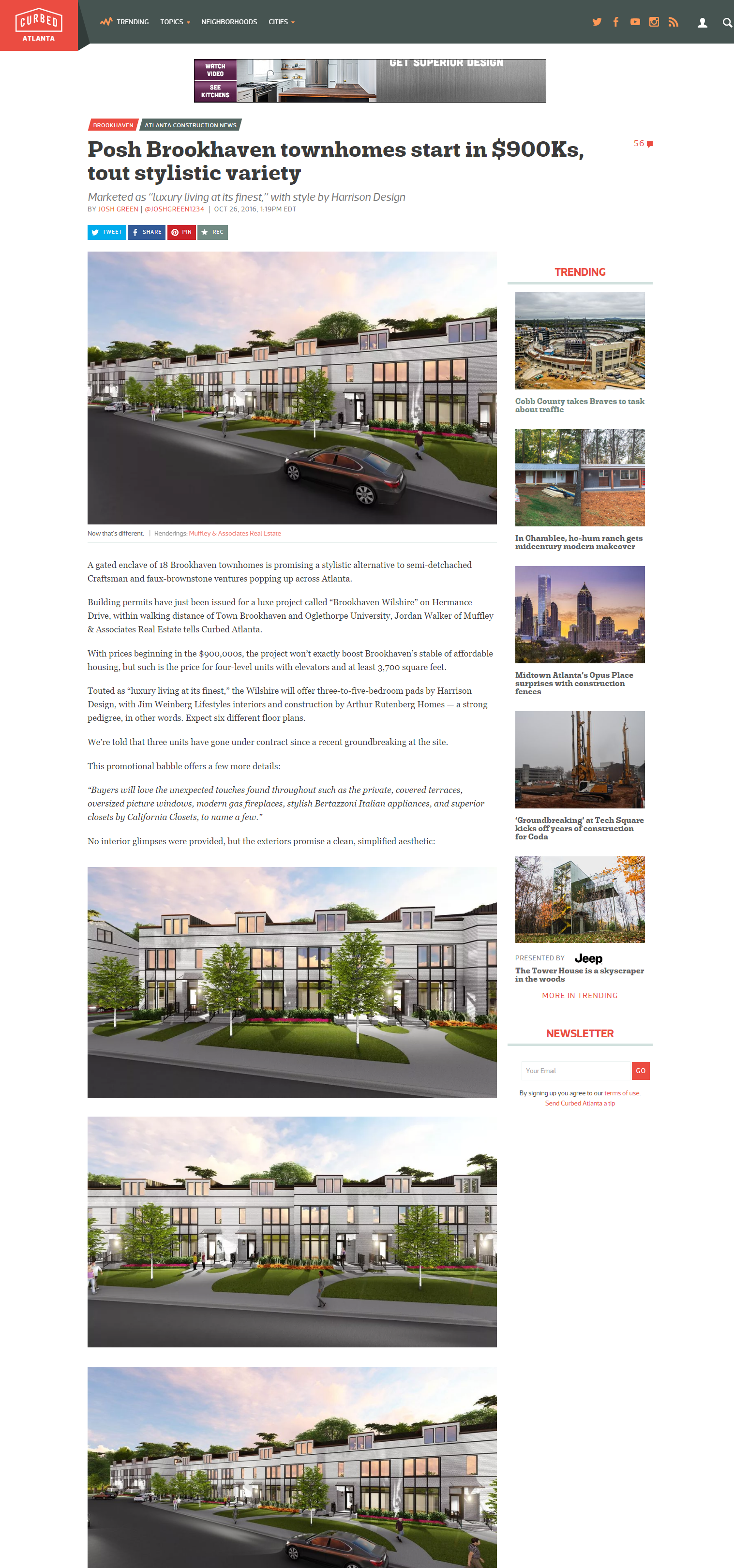 Muffley & Associates Real Estate's Brookhaven Wilshire featured in Curbed Atlanta