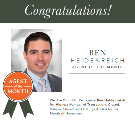 Muffley & Associates Real Estate November Agent of the Month