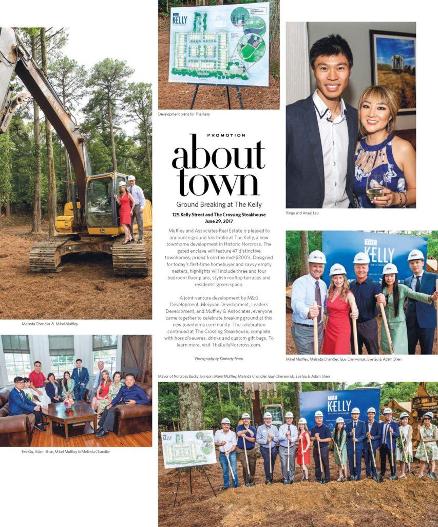 "Recently featured in Interiors' ""About Town"" column, The Kelly Historic Norcross celebrated its groundbreaking on June 29!"