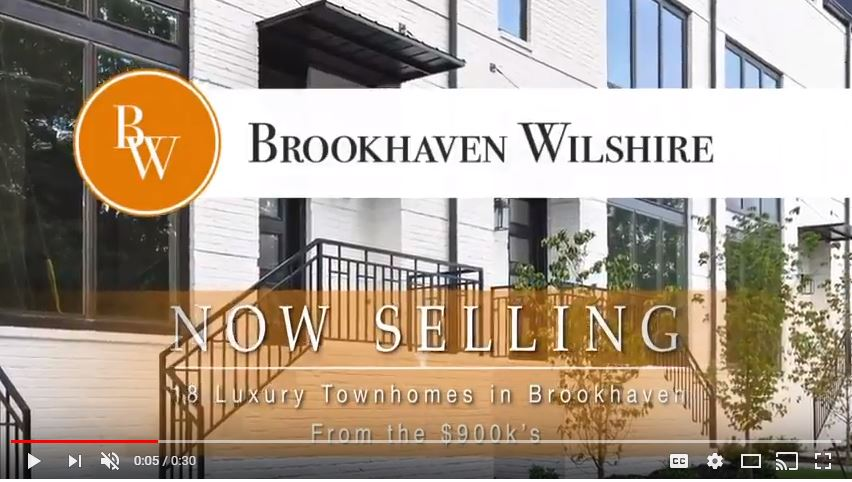 Live Brilliantly at Brookhaven Wilshire, a private enclave of 18 luxury townhomes for sale in popular Brookhaven.