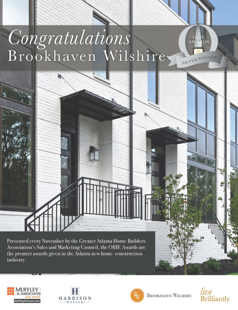 Brookhaven Wilshire wins an OBIE Award for excellence in home building
