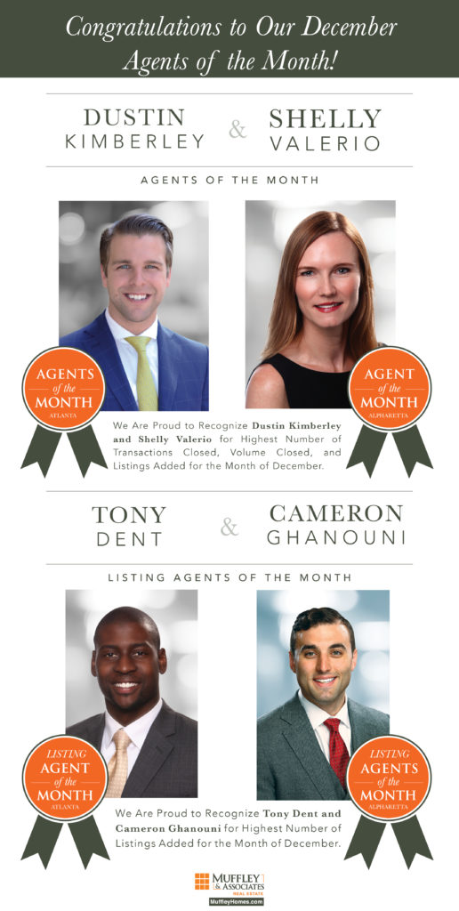 Muffley & Associates December 2017 Agents of the Month