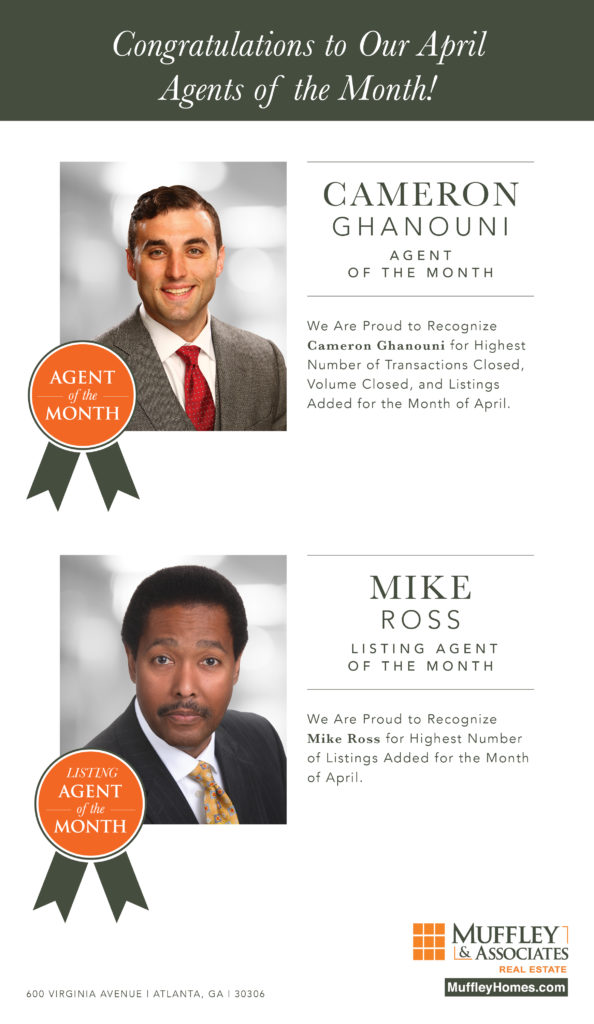 Muffley & Associates April Agents of the Month